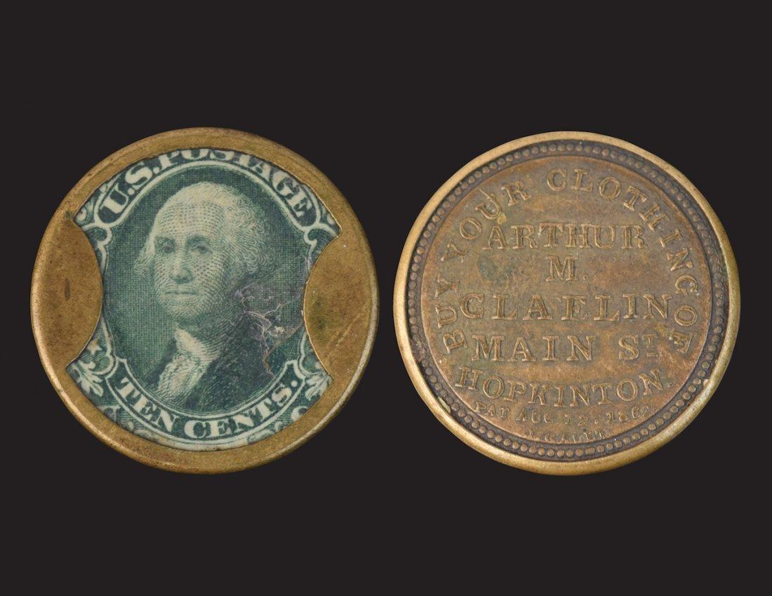 RARE Arthur M. Claflin 1862 Encased Stamp
