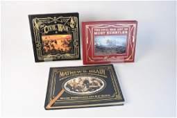 3 Leather Bound Civil War  Battle Books