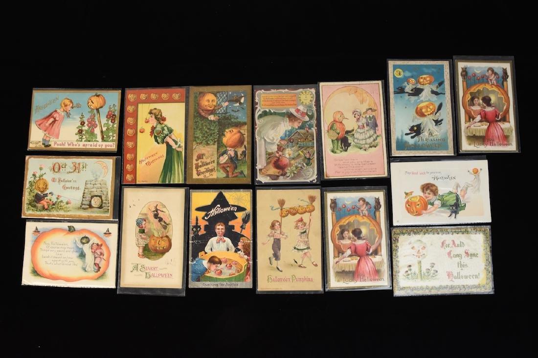 (15) Early 1900\'s Halloween Postcards; Winsch, Hufmann
