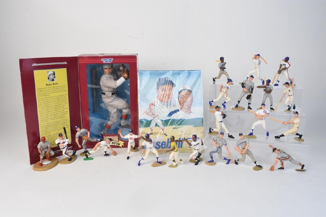 (21) Sports Action Baseball Figures, Hasbro Babe Ruth