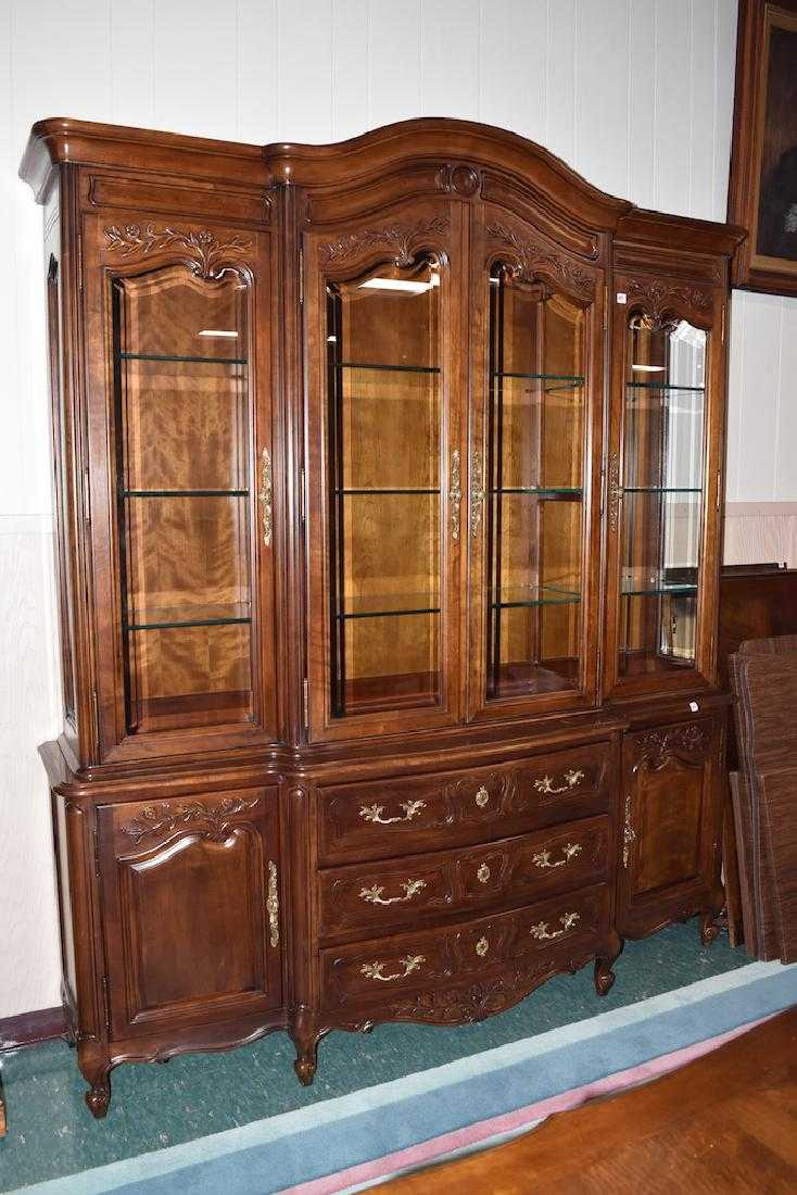 White Furniture Company Bedroom Set: White Furniture Company Lighted China Cabinet