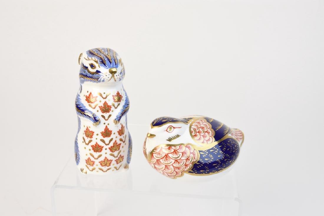 (2) Royal Crown Derby English Bone China Figurines