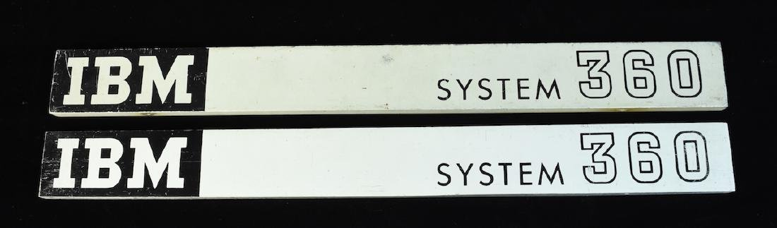 (2) Vintage IBM System 360 Mainframe Mastheads