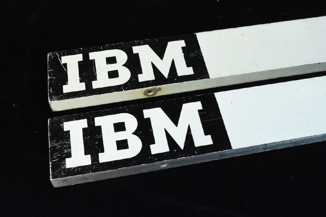 (2) Vintage IBM System 360 Mainframe Mastheads - 2