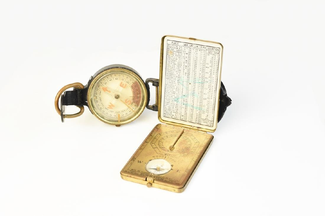 Sunwatch Pocket Compass & 1940's WWII US Army Coma