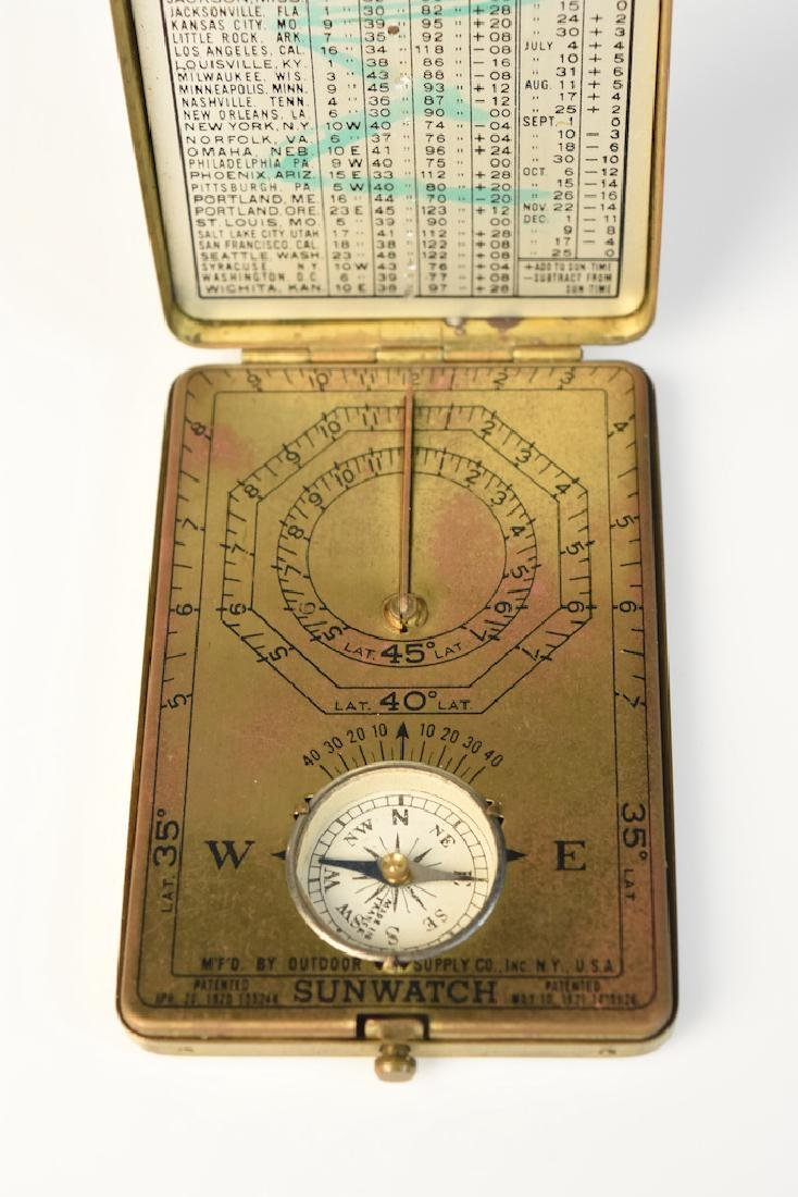 Sunwatch Pocket Compass & 1940's WWII US Army Coma - 5