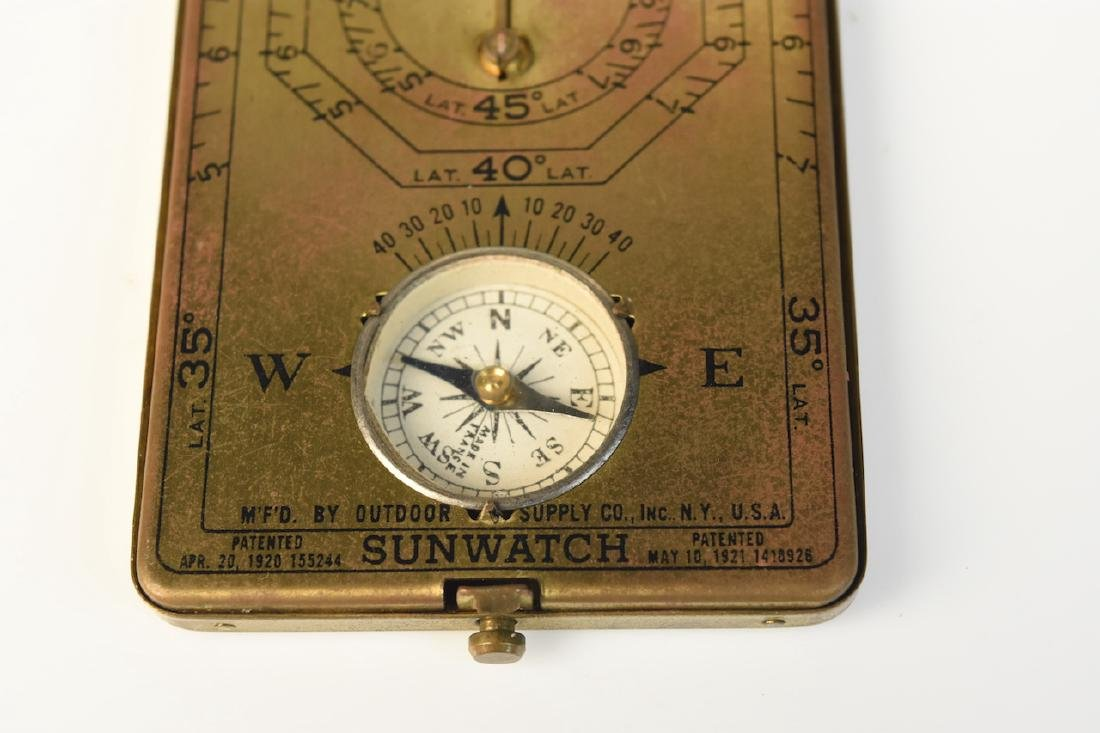 Sunwatch Pocket Compass & 1940's WWII US Army Coma - 8