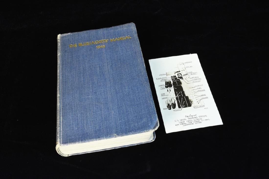1943 WWII The Bluejackets' Manual US Navy Institute