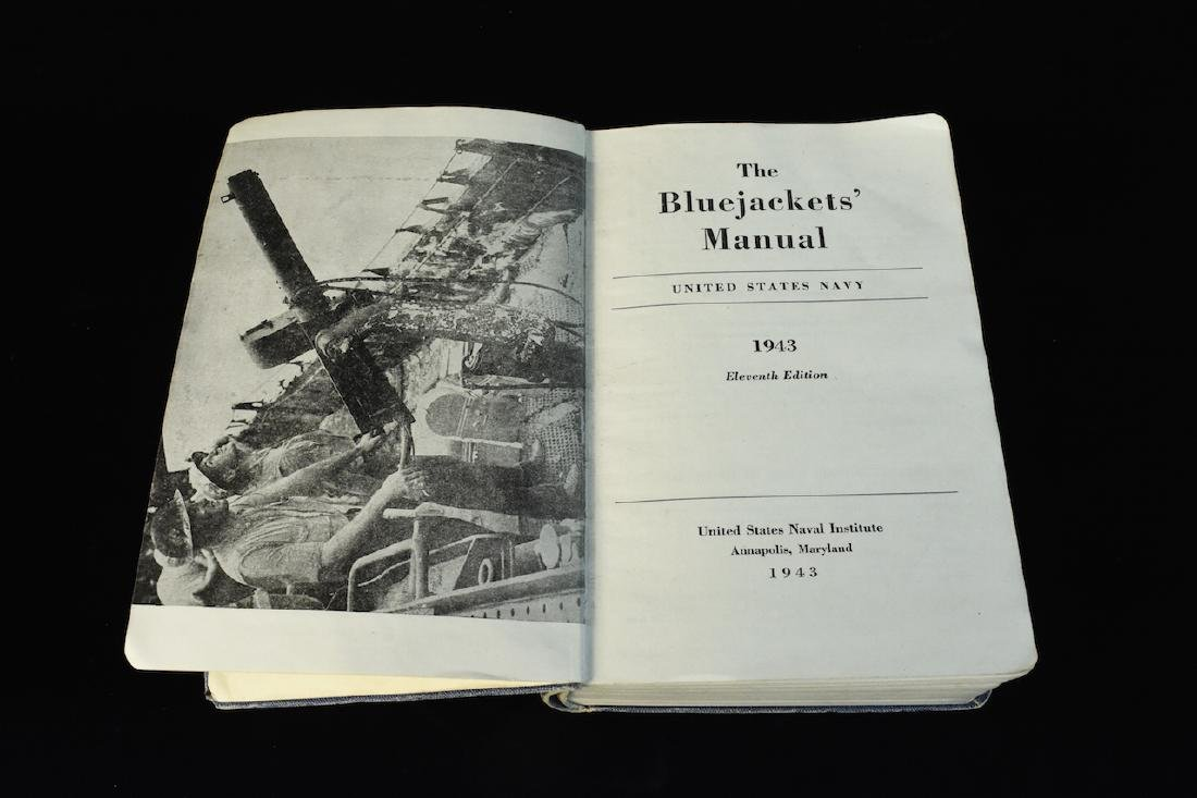 1943 WWII The Bluejackets' Manual US Navy Institute - 4