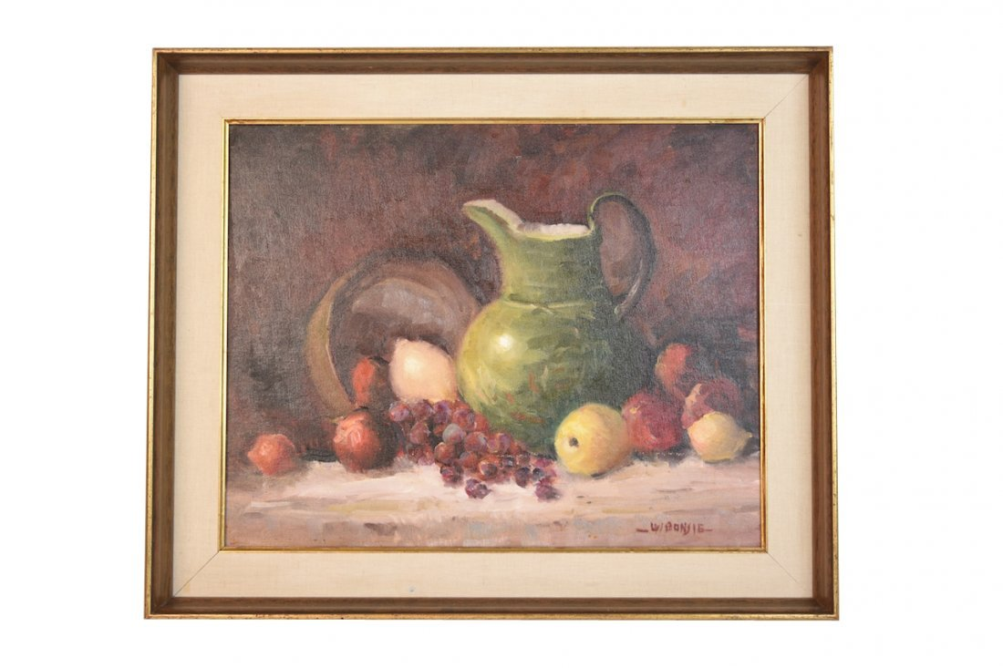 Louis Bonsib Oil on Board Still Life; SLR