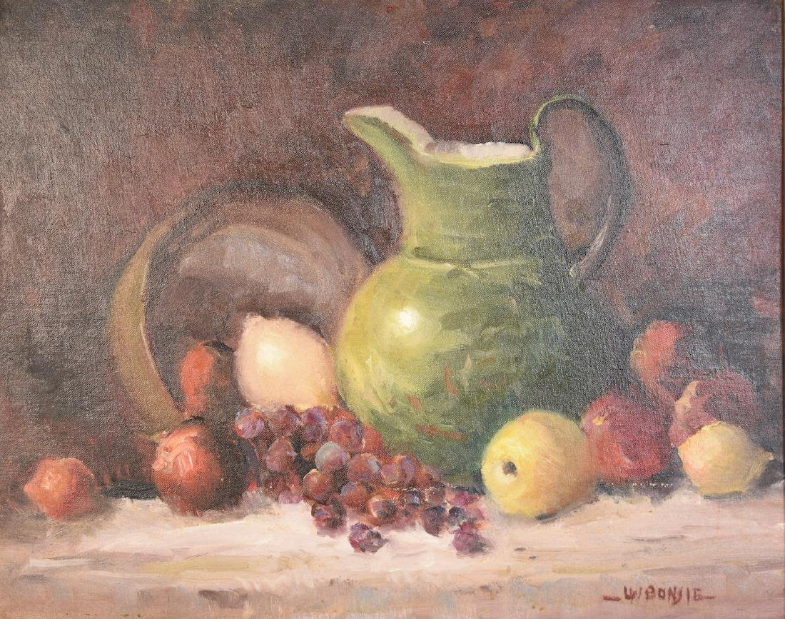 Louis Bonsib Oil on Board Still Life; SLR - 2