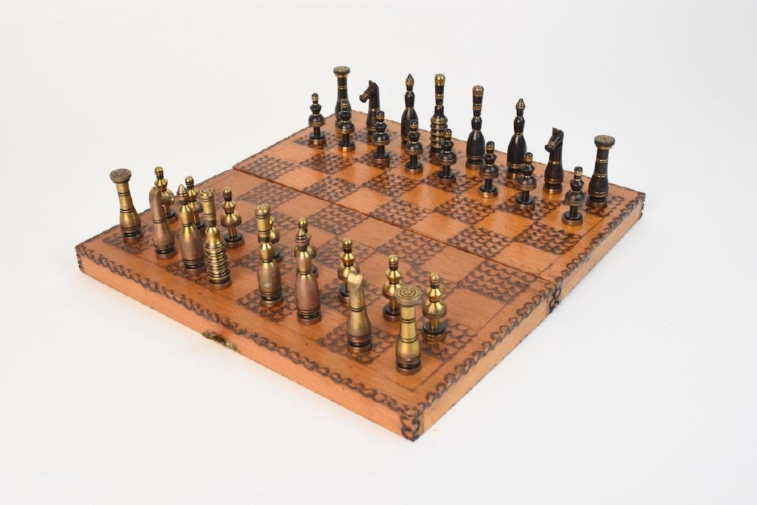Hans Teppich; Israel Chess Set With Board