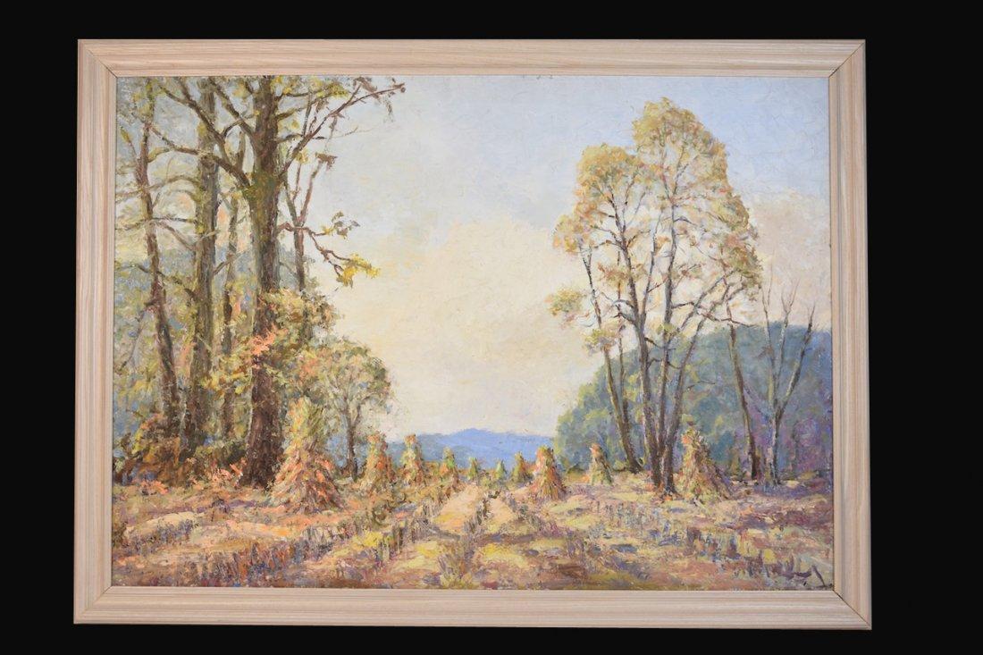 Louis Bonsib Oil On Canvas Landscape
