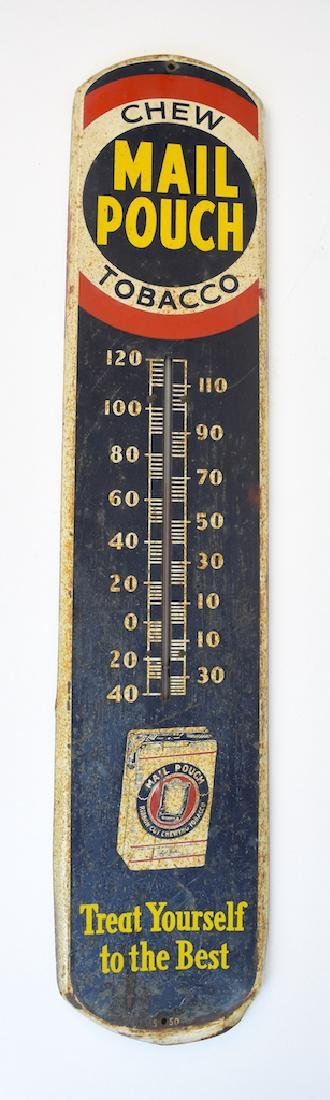 Mail Pouch Thermometer Advertising Sign