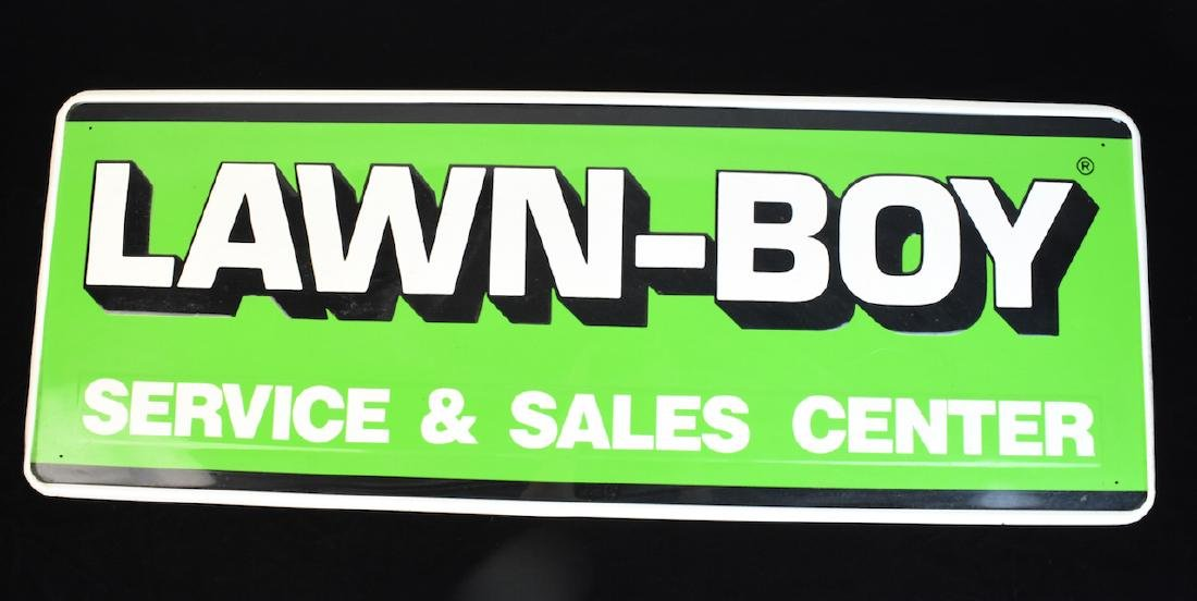 Lawn Boy Service & Sales Center Metal Adv. Sign