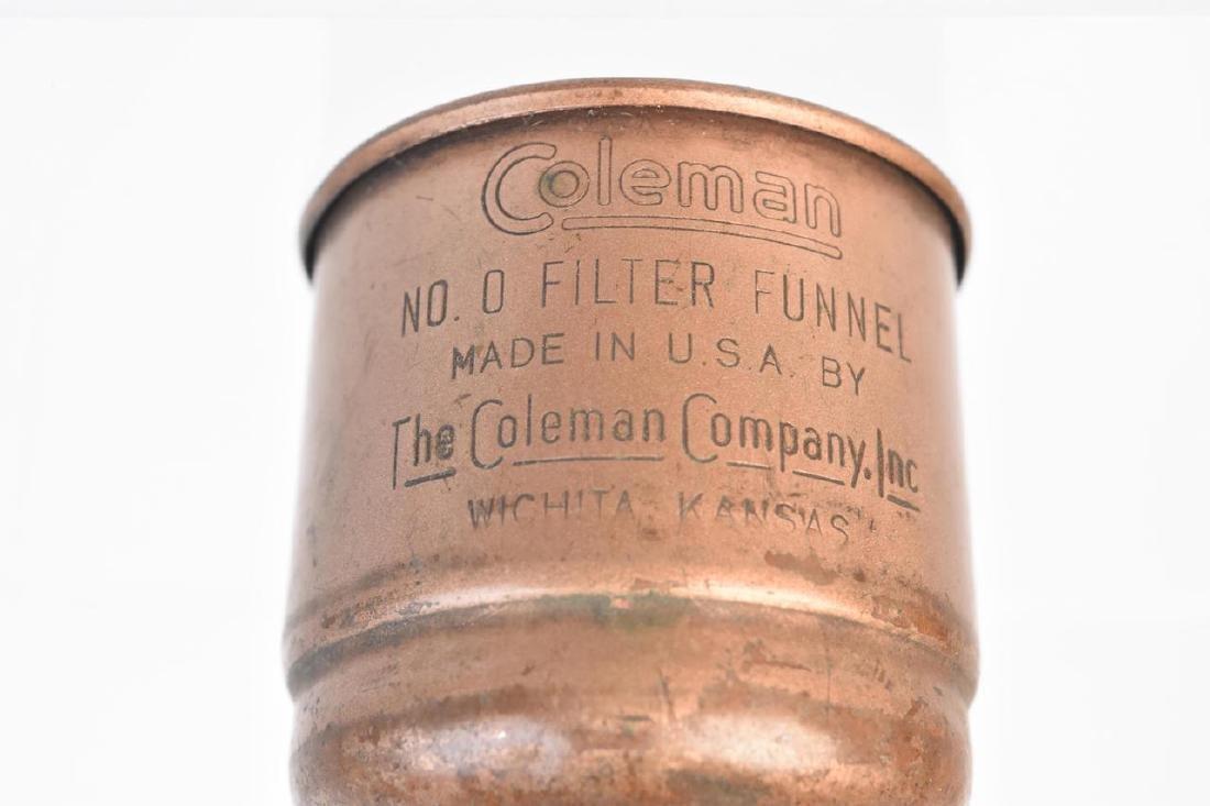 1950's Coleman 228E Lantern & No. 0 Filter Funnel - 10