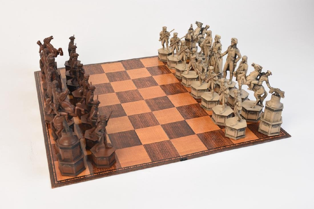 """1776"" US Bicentennial Celebration Chess Set"