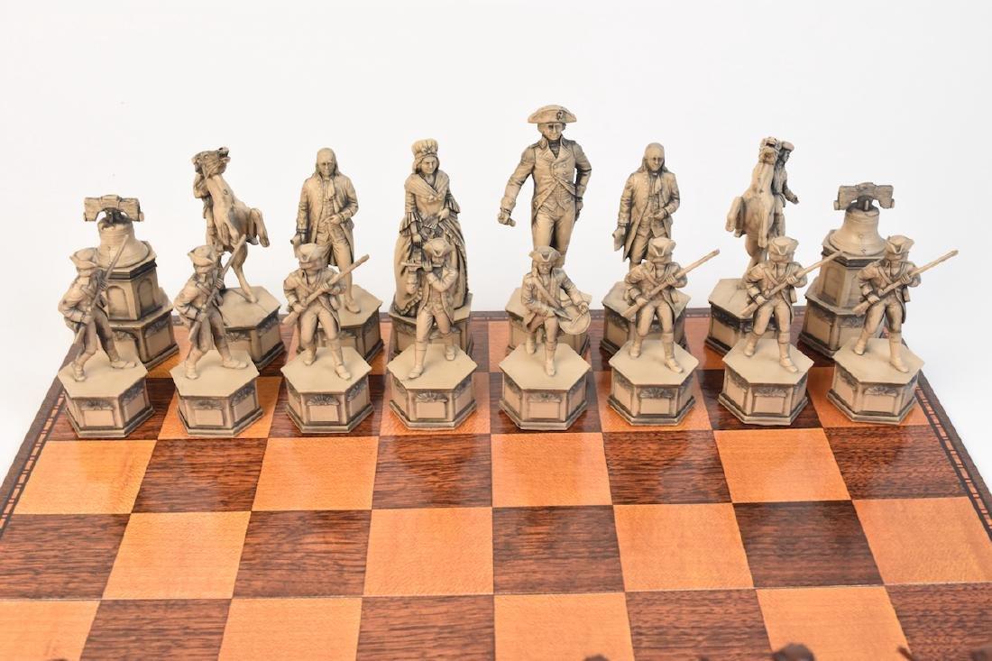 """1776"" US Bicentennial Celebration Chess Set - 2"
