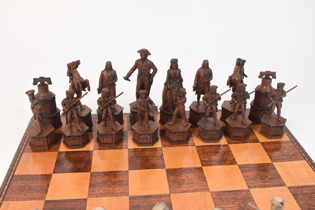 """1776"" US Bicentennial Celebration Chess Set - 3"