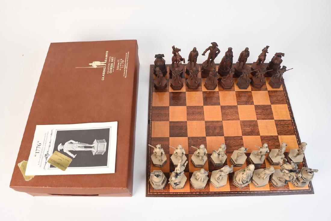 """1776"" US Bicentennial Celebration Chess Set - 4"