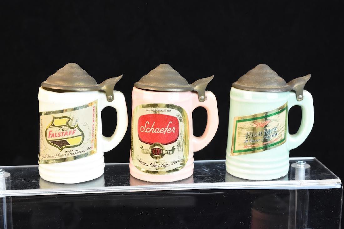 Miniature Vintage Beer Advertisement Steins - 3