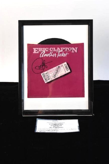 Autographed 45 by Eric Clapton