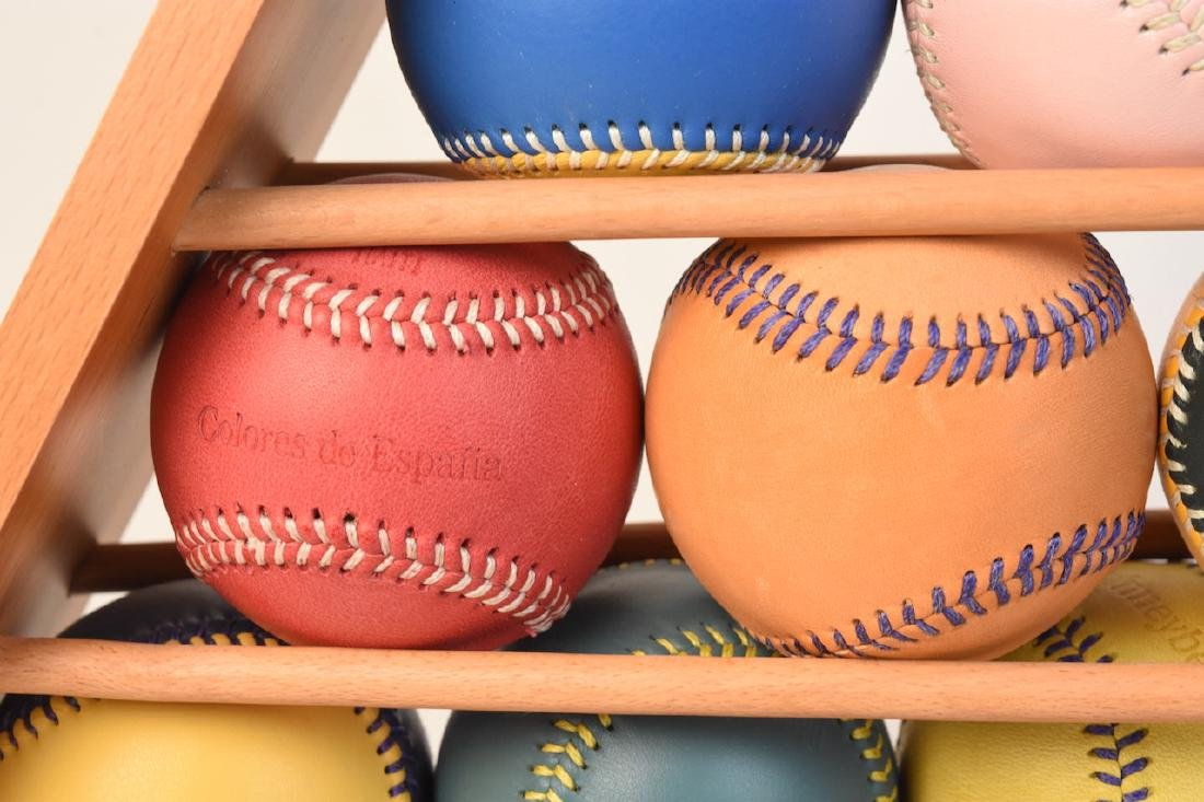 Colorful Baseballs in Display- Many Spinneybeck - 2