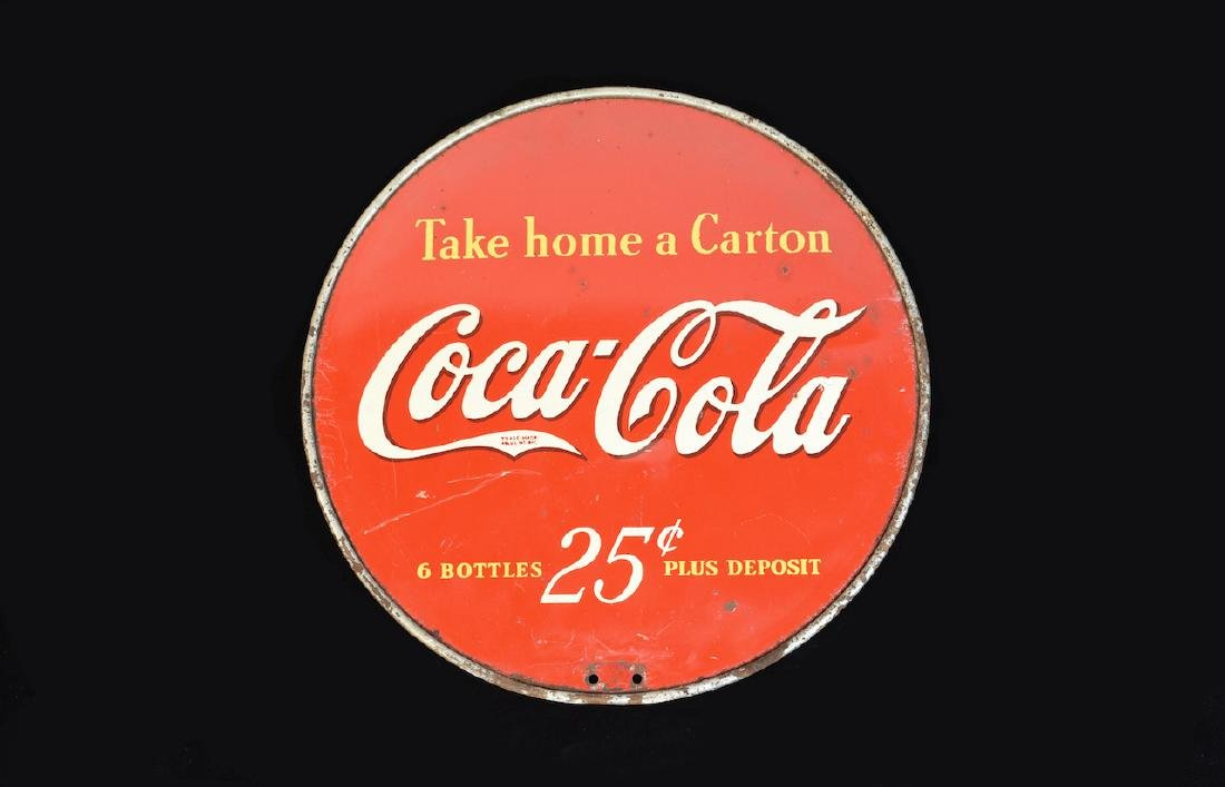 Coca Cola Round Double Sided Advertising Sign