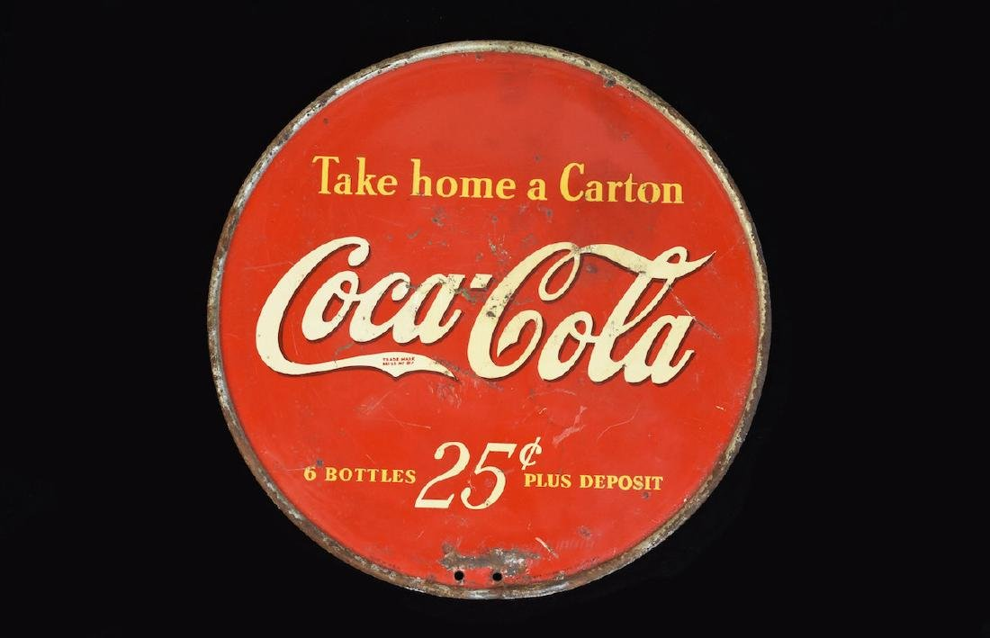 Coca Cola Round Double Sided Advertising Sign - 3
