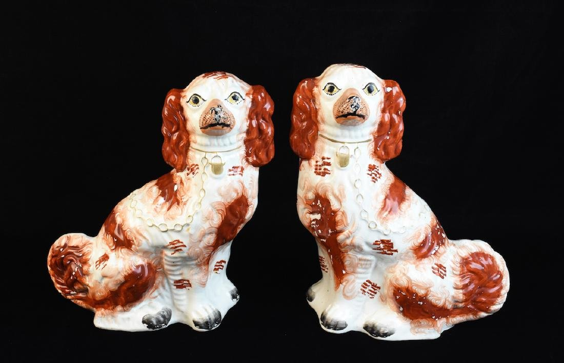 Pair of Staffordshire Ceramic Dogs