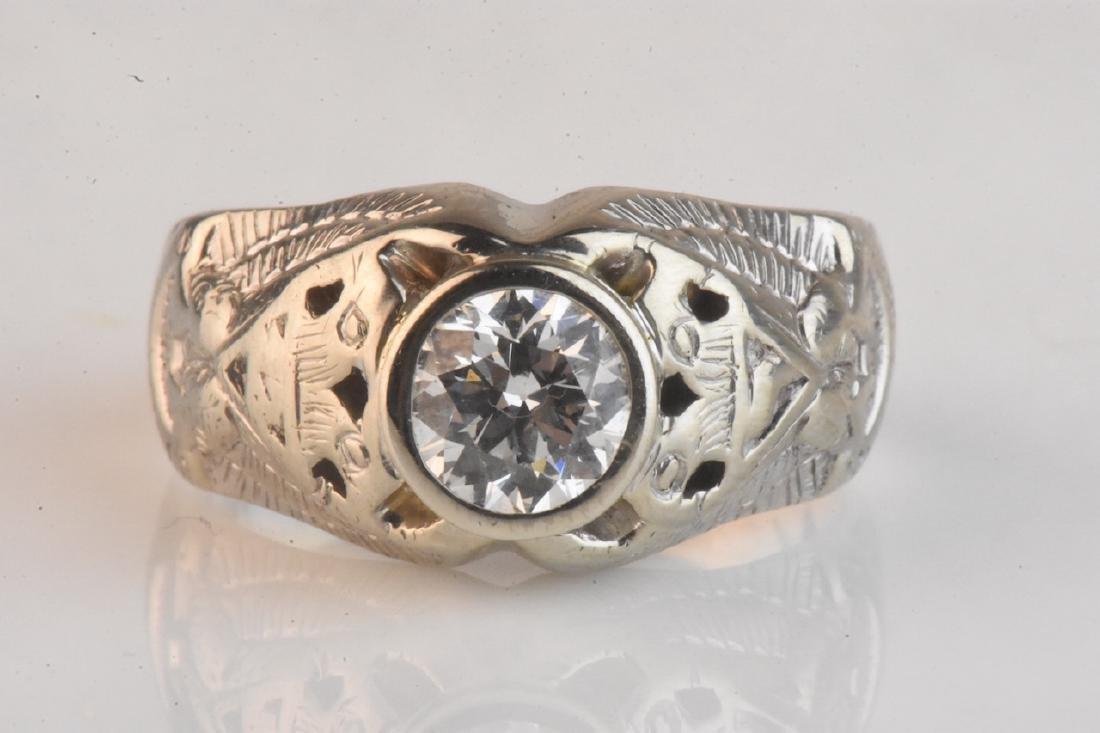 1.34 carat COLORLESS Diamond Ring, 14K Gold