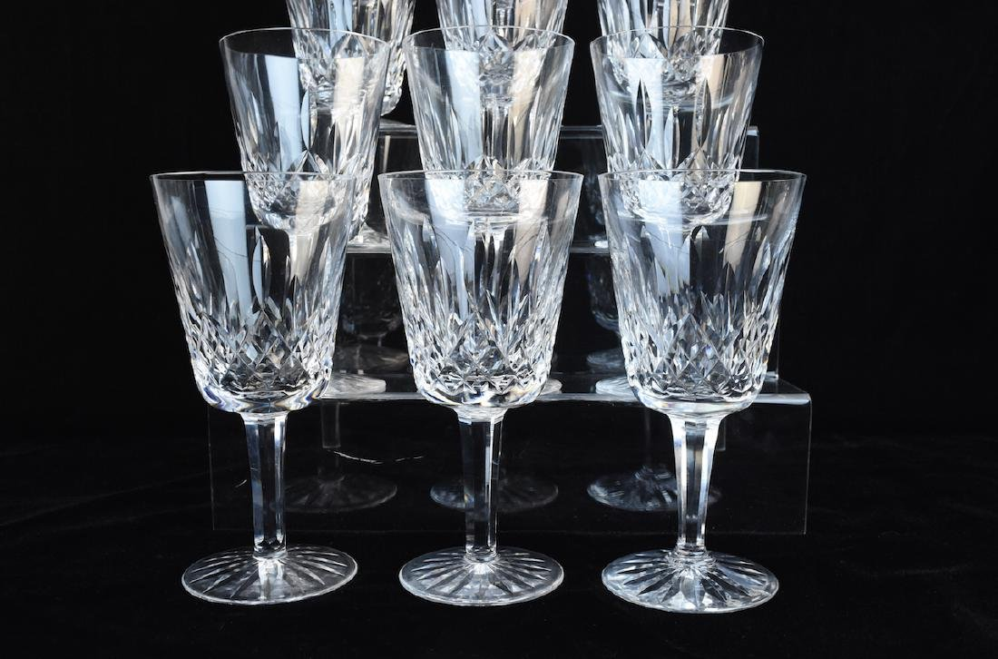 (12) Waterford Lismore Crystal Water Goblets - 2
