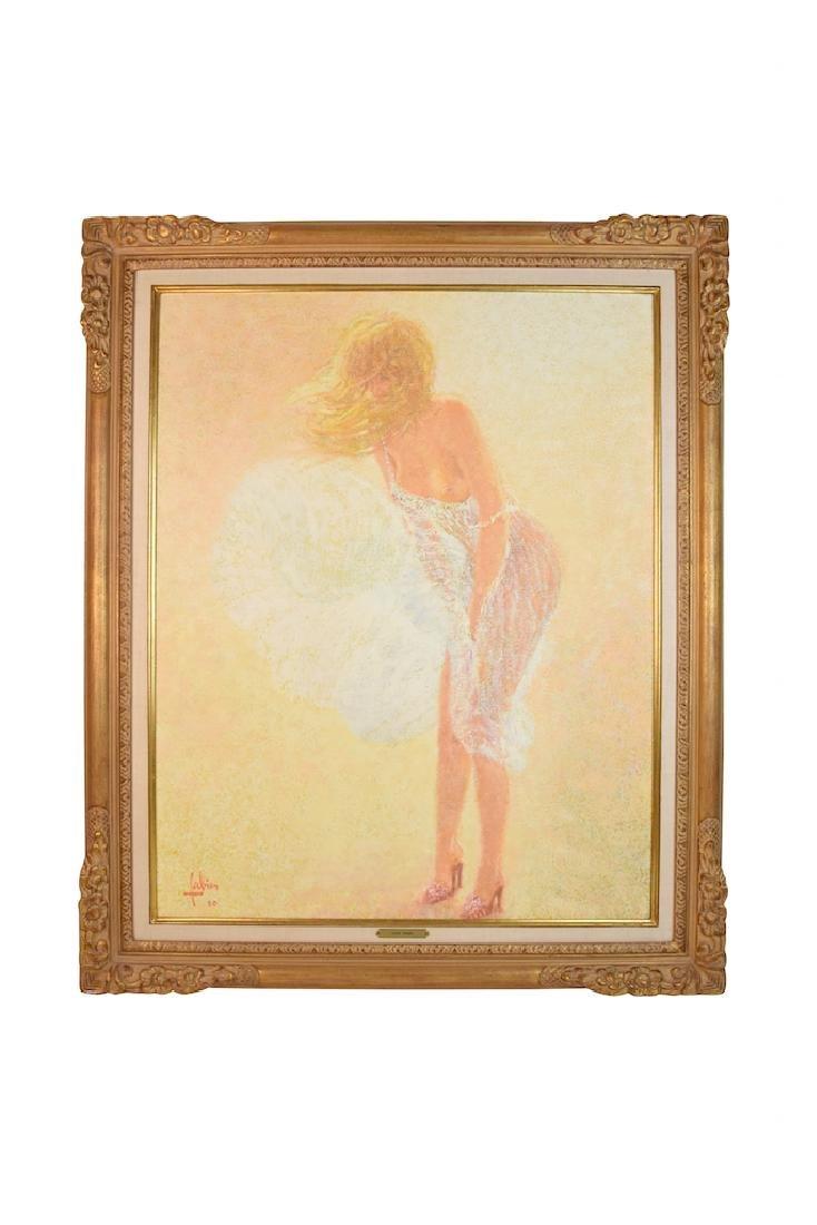 Oil on Canvas by Louis Fabien; La Robe Blanche
