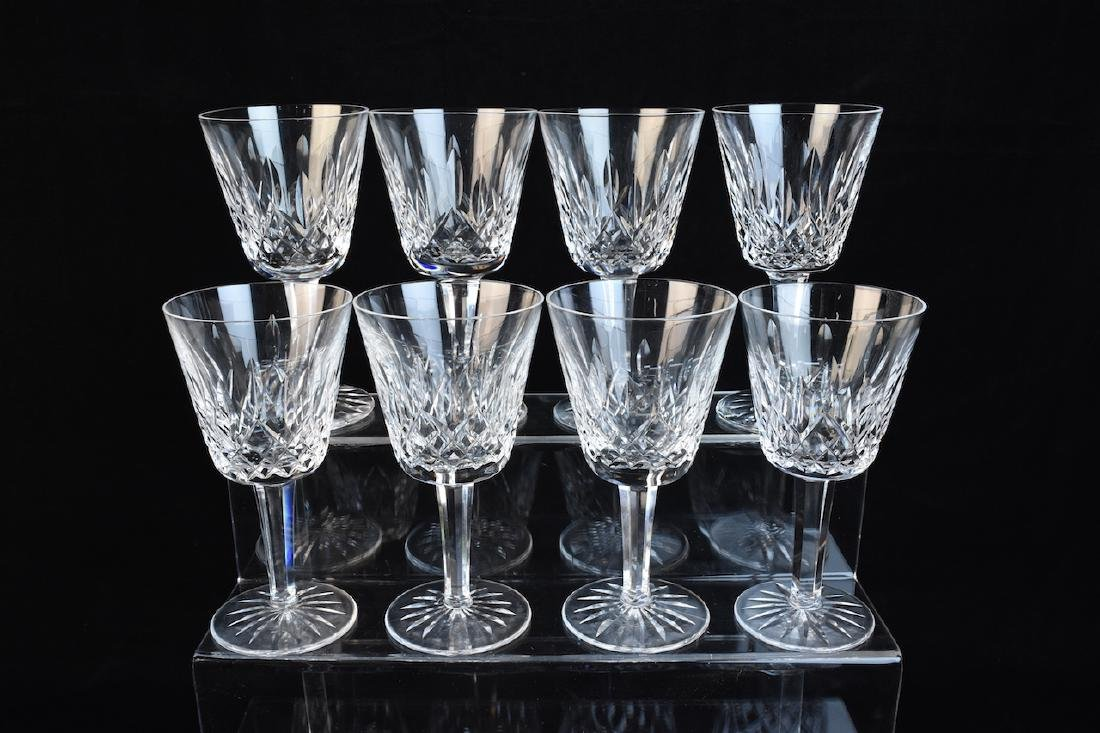 (12) Waterford Lismore Claret Wine Glasses - 2