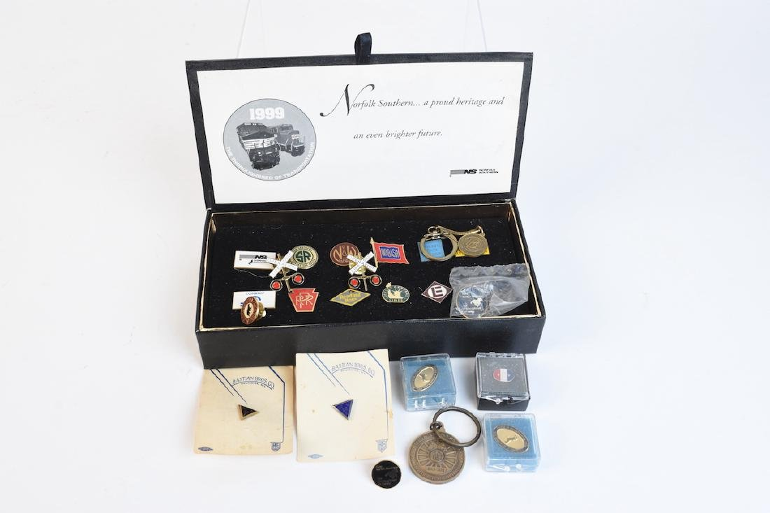 Collection of Railroad Lapel Pins & Key chains