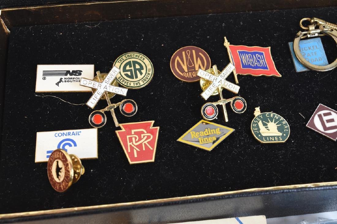 Collection of Railroad Lapel Pins & Key chains - 2