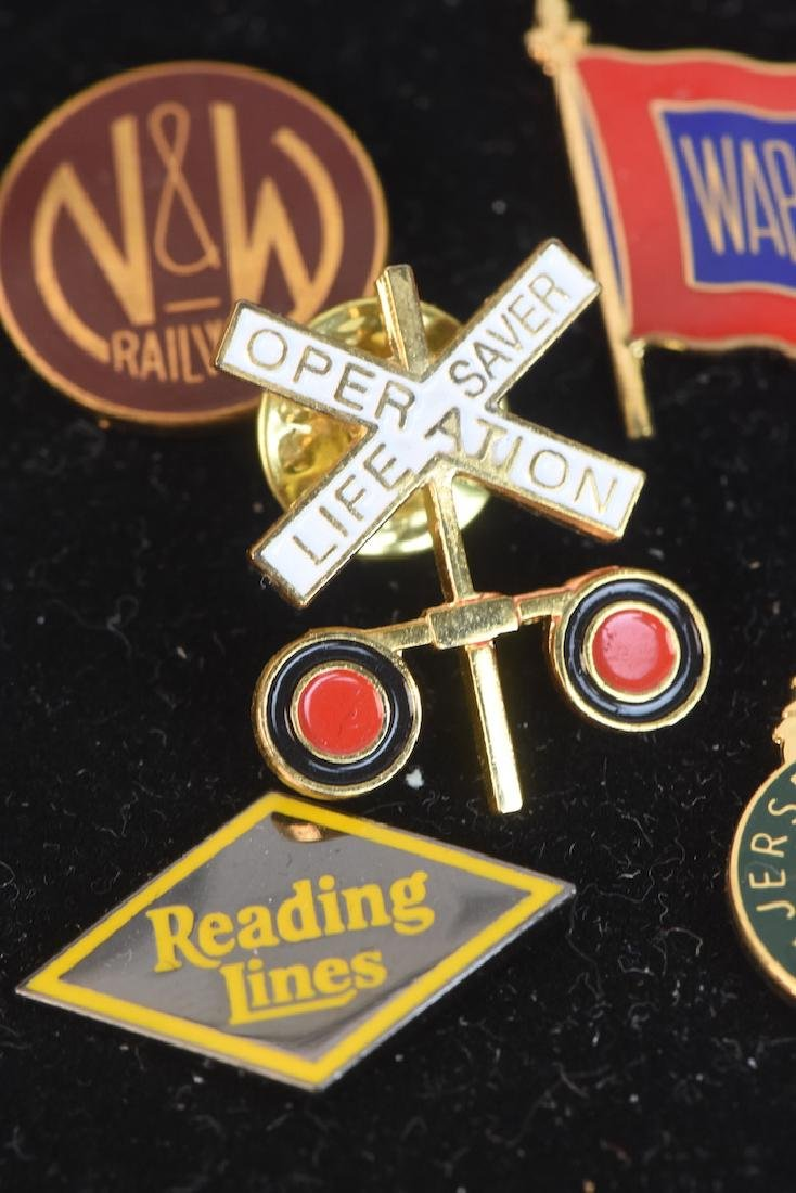Collection of Railroad Lapel Pins & Key chains - 5