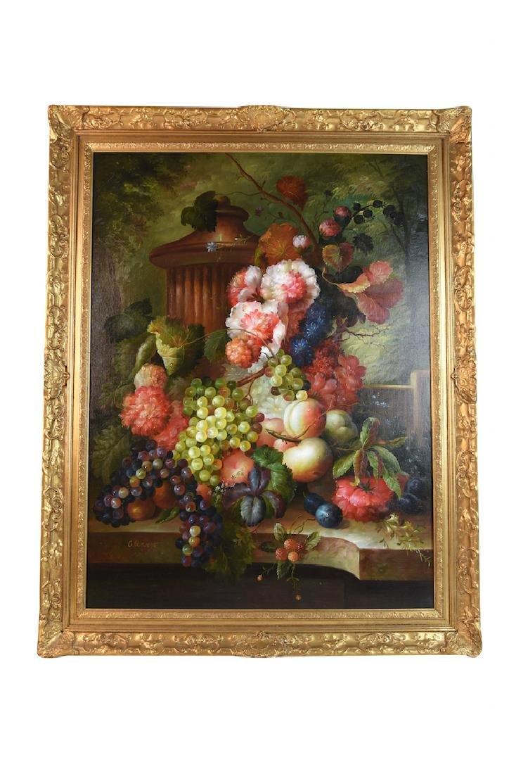 Still Life Oil on Canvas Signed Clement