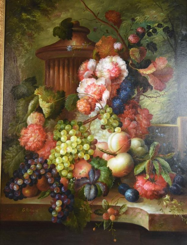 Still Life Oil on Canvas Signed Clement - 2