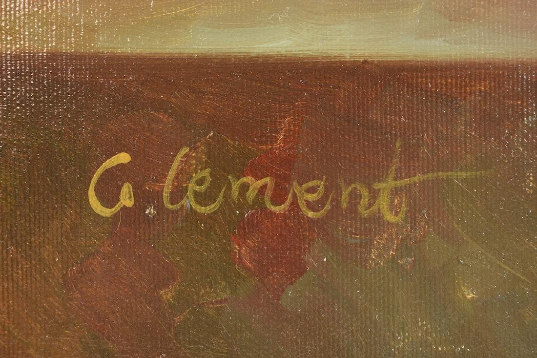Still Life Oil on Canvas Signed Clement - 3