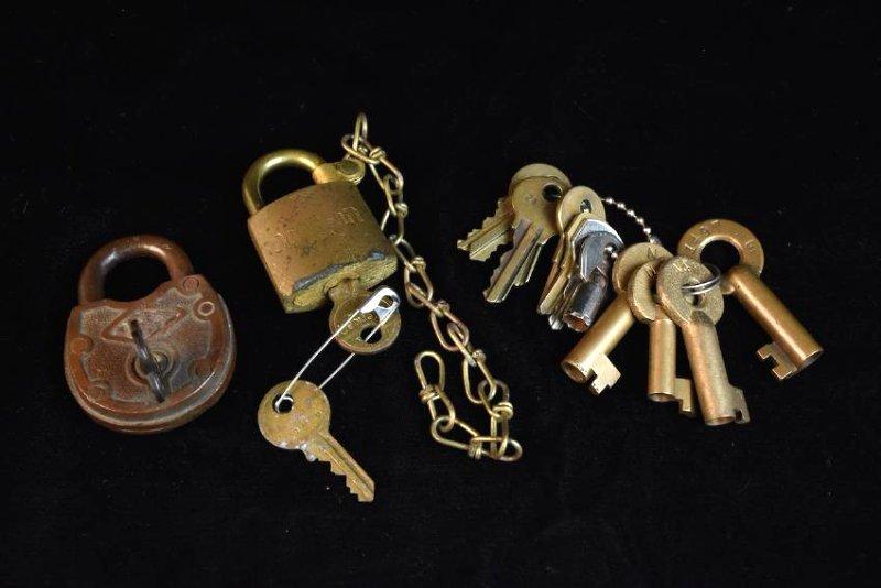 Vintage Padlocks and Keys
