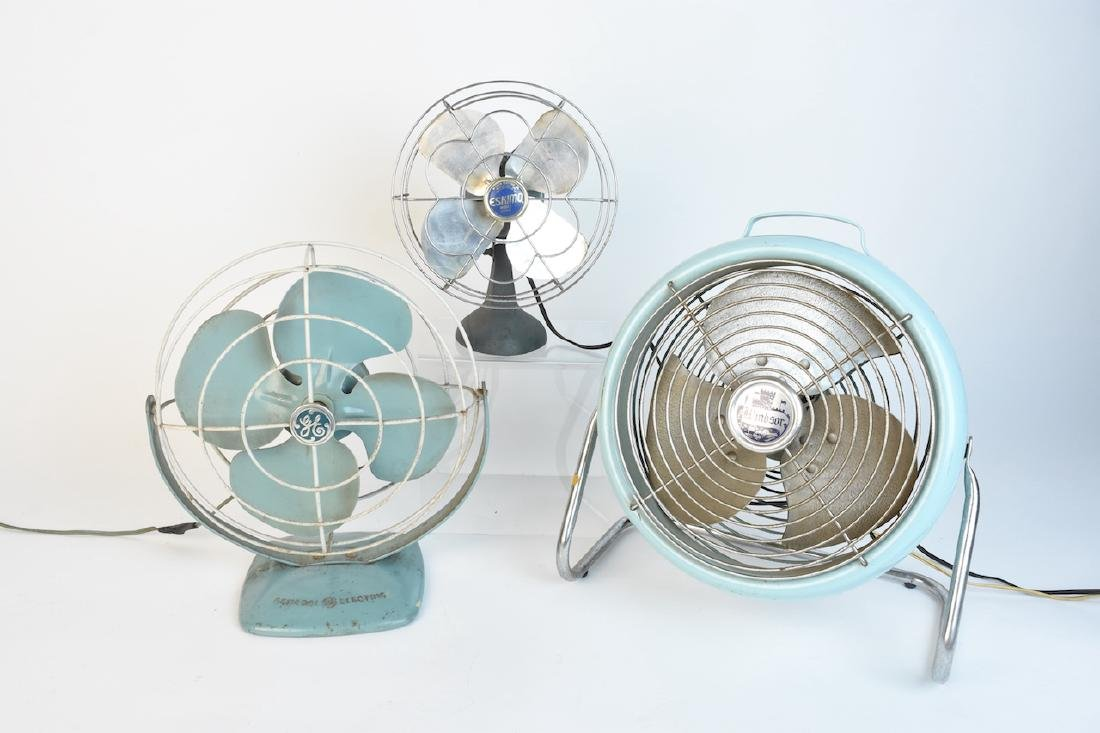 (3) Vintage Fans - GE, McGraw Electric Co. +