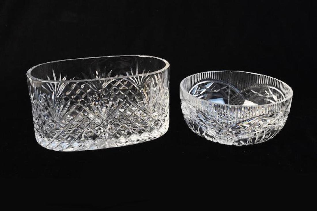 Waterford Cut Crystal Bowl and Oblong Bowl