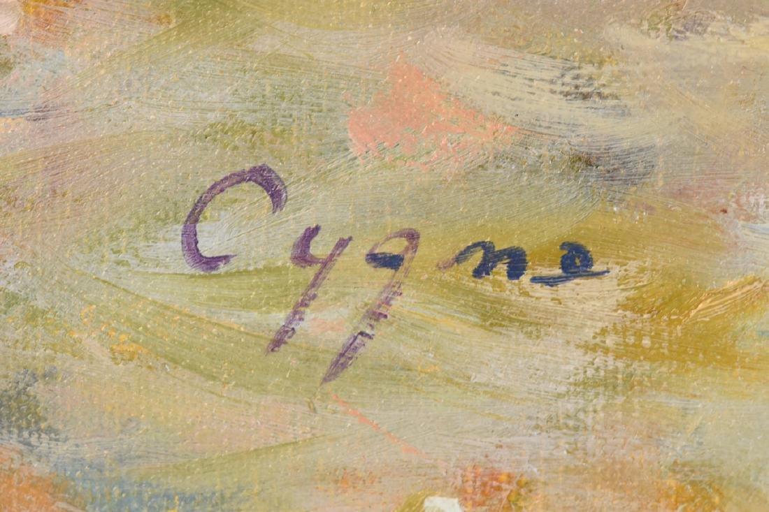 E.J. Cygne Oil on Canvas; Merchand des Fleurs - 2