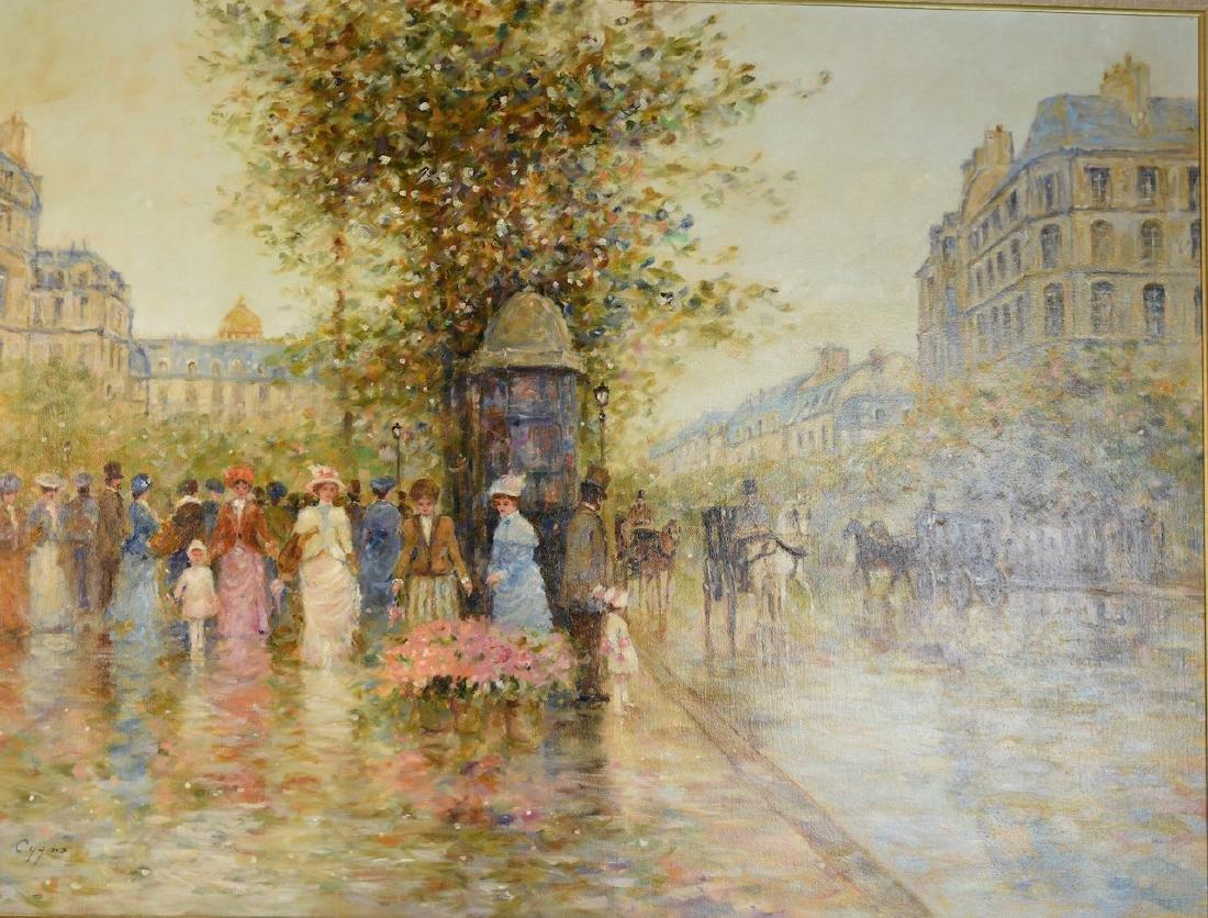 E.J. Cygne Oil on Canvas; Merchand des Fleurs - 3