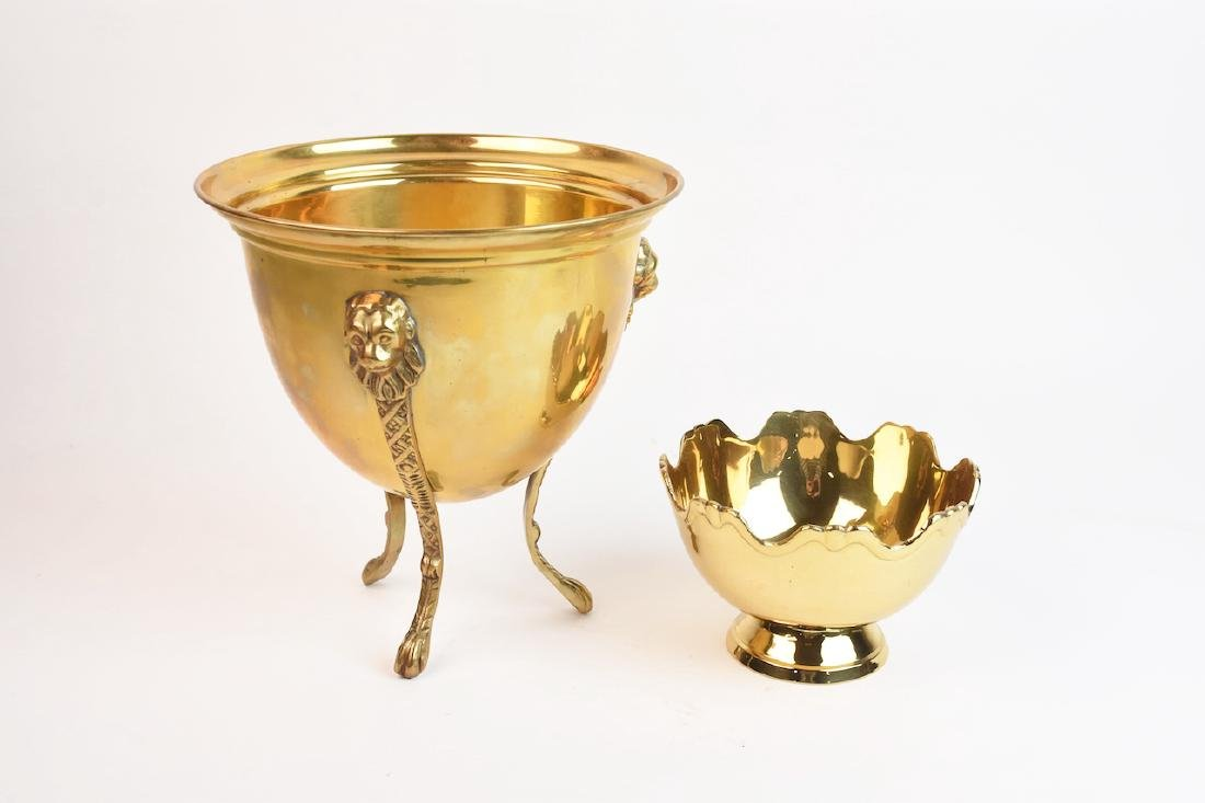 Mottahedeh Brass Urn & Hampton Brass Compote