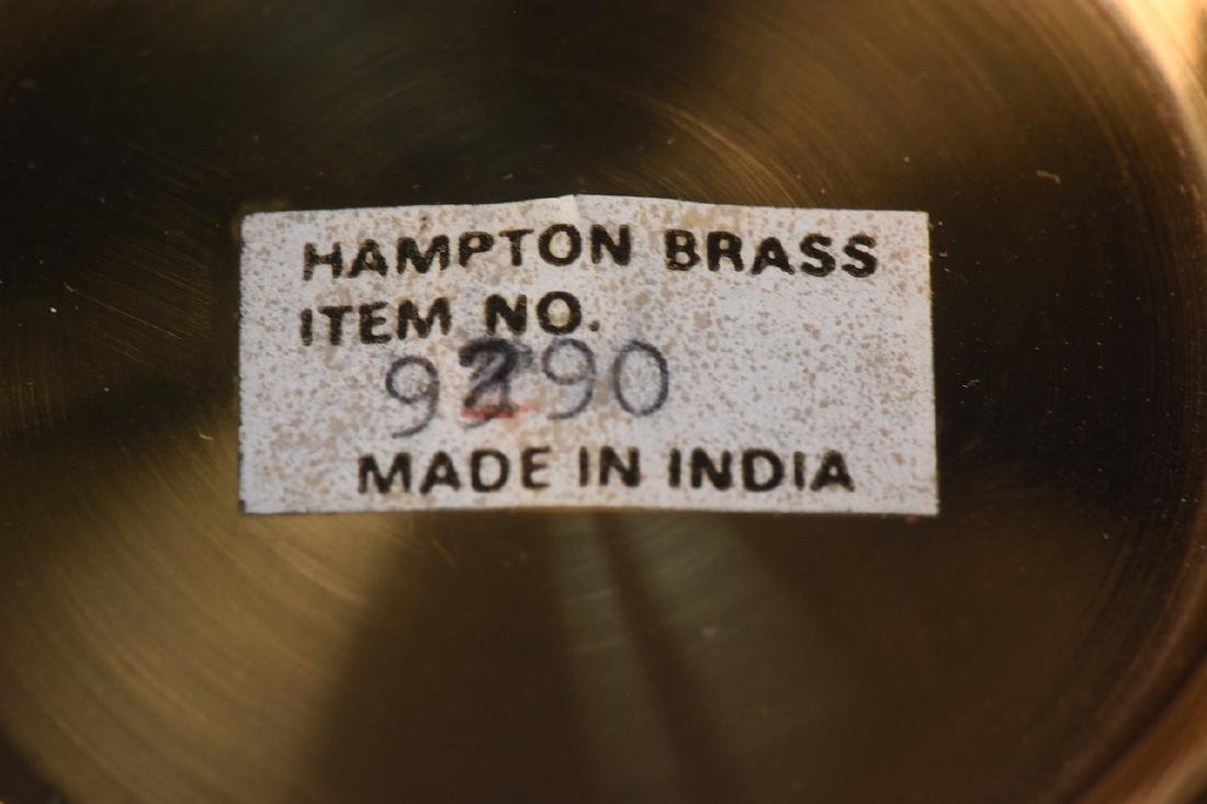 Mottahedeh Brass Urn & Hampton Brass Compote - 3