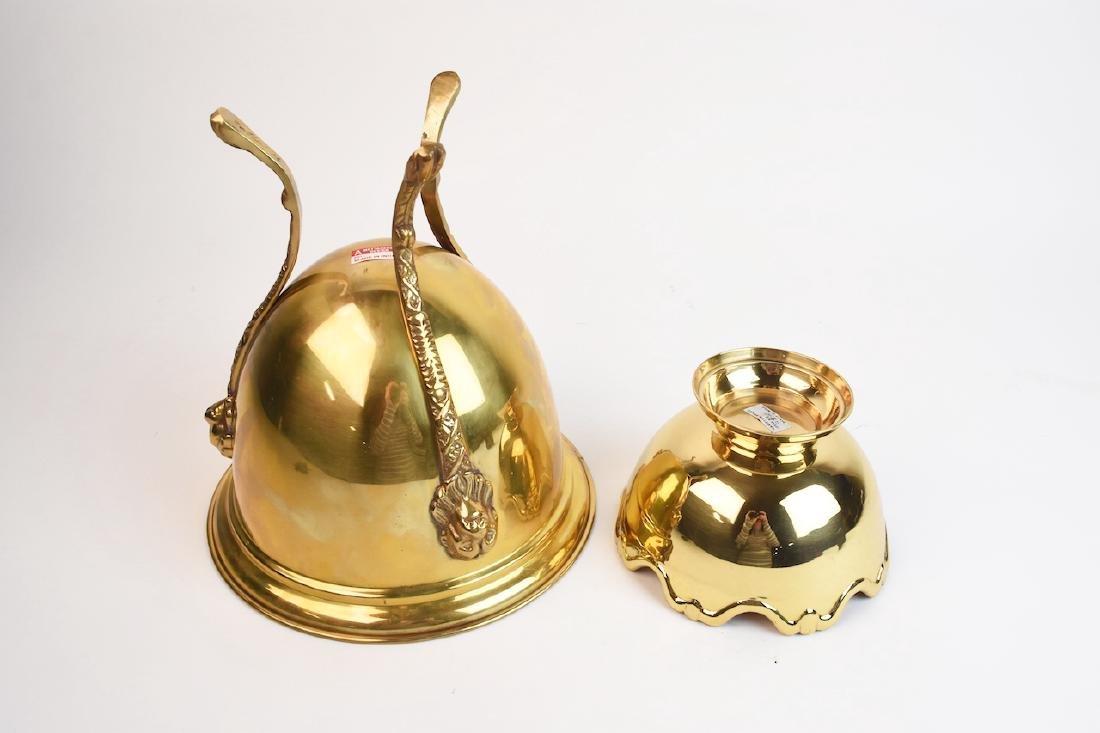 Mottahedeh Brass Urn & Hampton Brass Compote - 5