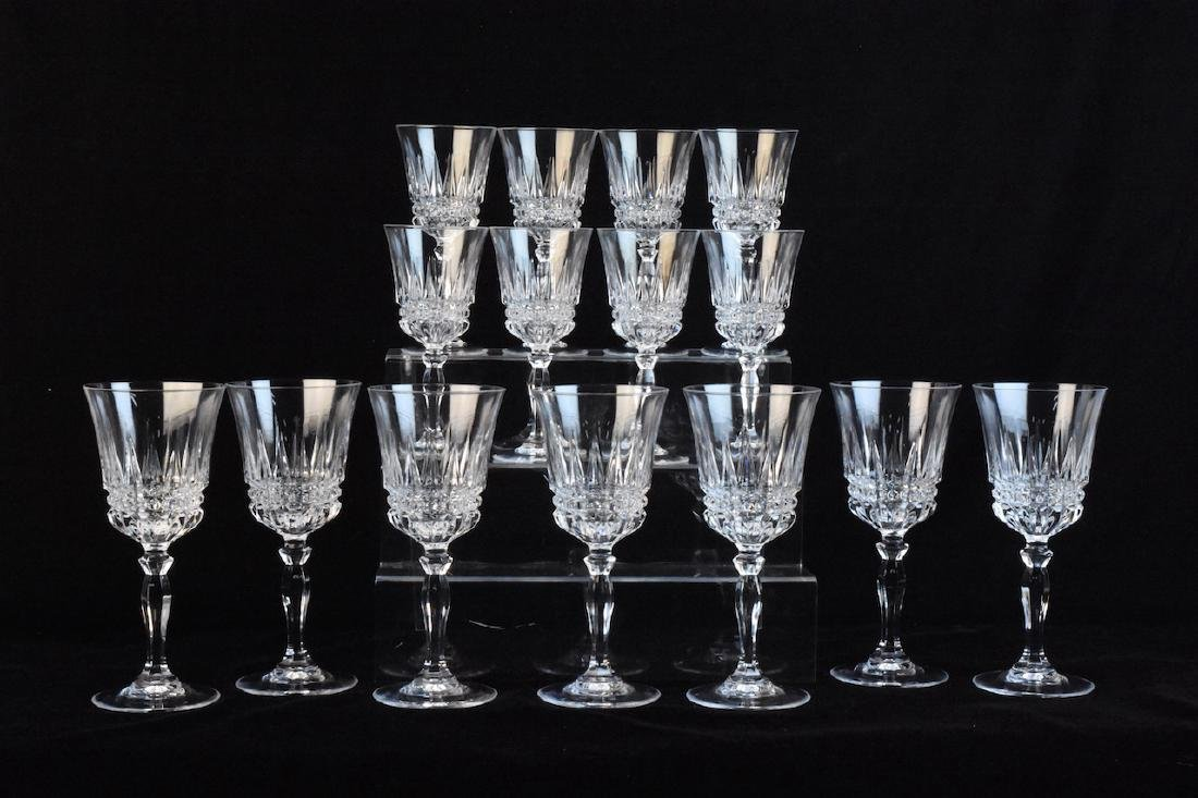 (15) Piece Crystal Stemware Set