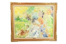 Le Pho Oil on Canvas ParrniLes Fleurs
